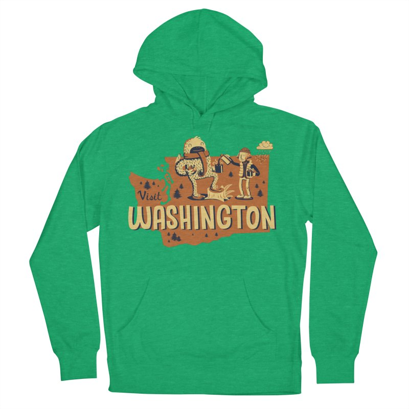 Visit Washington Men's Pullover Hoody by Hazy Dell Press
