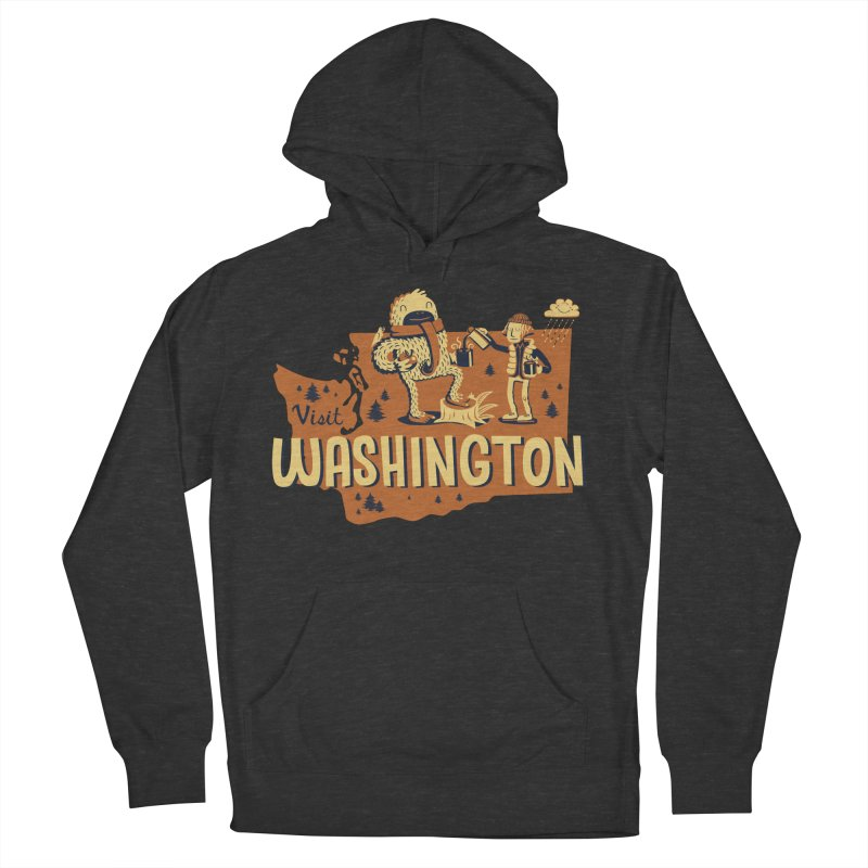 Visit Washington Men's Pullover Hoody by Hazy Dell Press