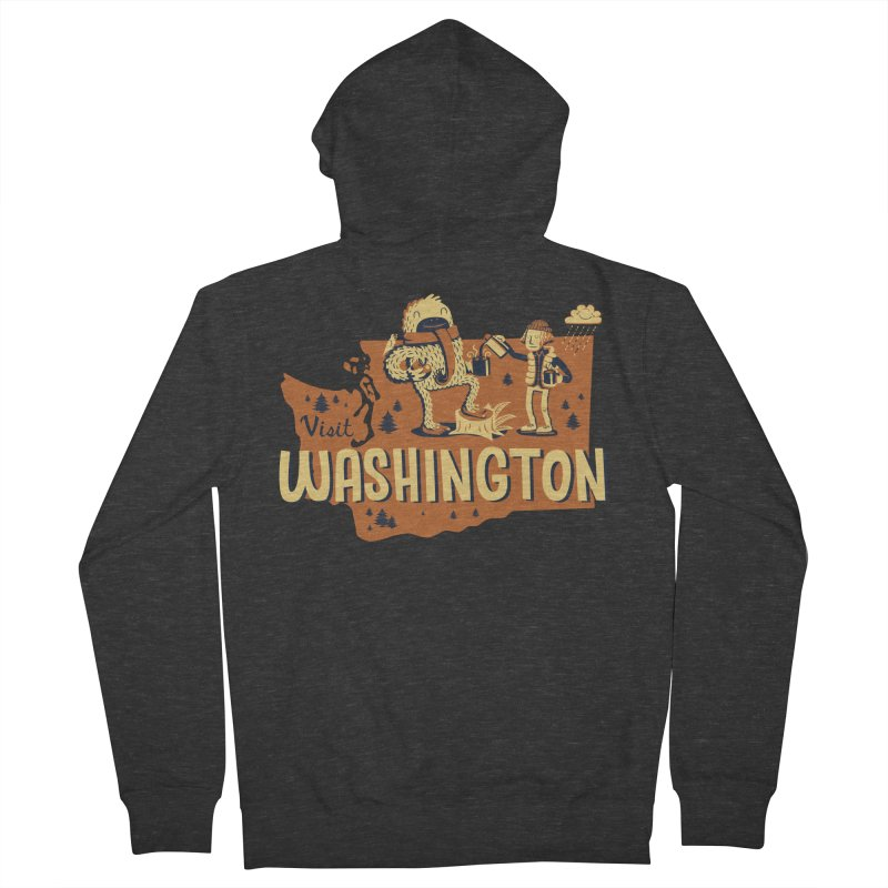 Visit Washington Women's French Terry Zip-Up Hoody by Hazy Dell Press