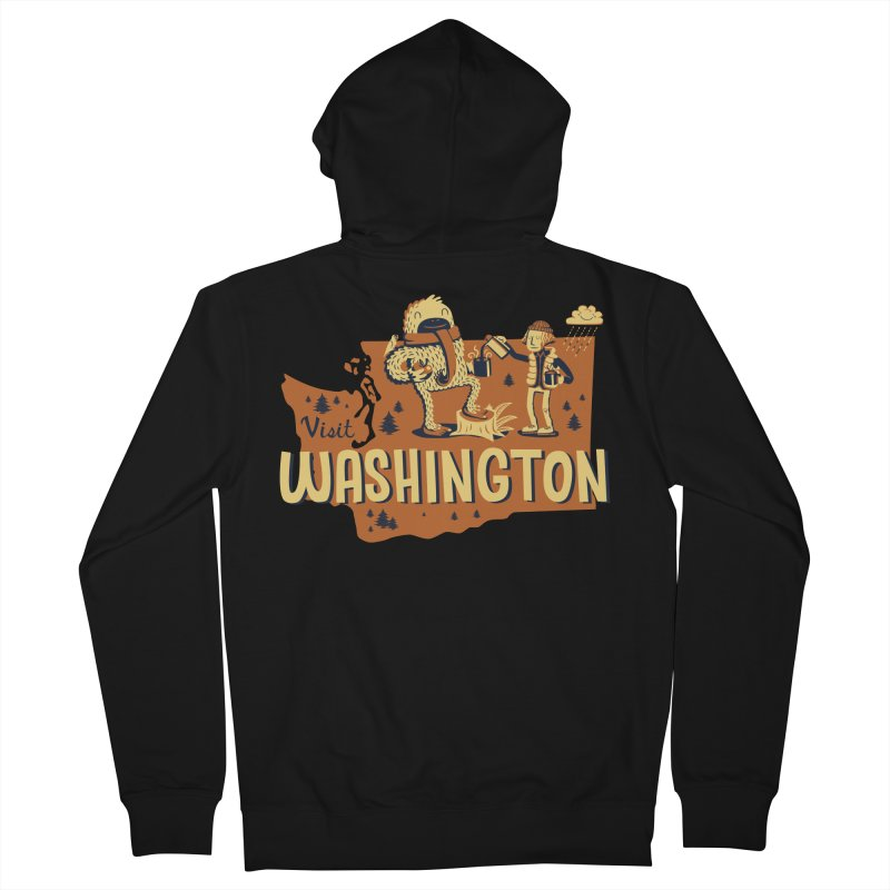 Visit Washington Men's French Terry Zip-Up Hoody by Hazy Dell Press