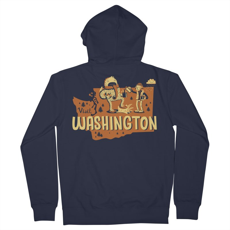 Visit Washington Men's Zip-Up Hoody by Hazy Dell Press