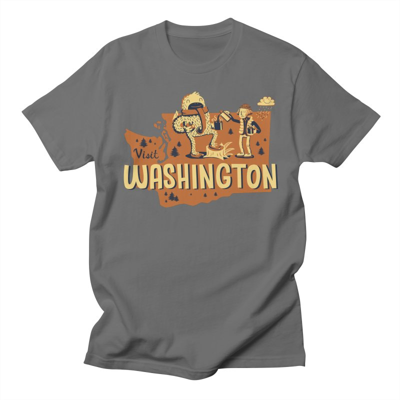 Visit Washington Men's Regular T-Shirt by Hazy Dell Press