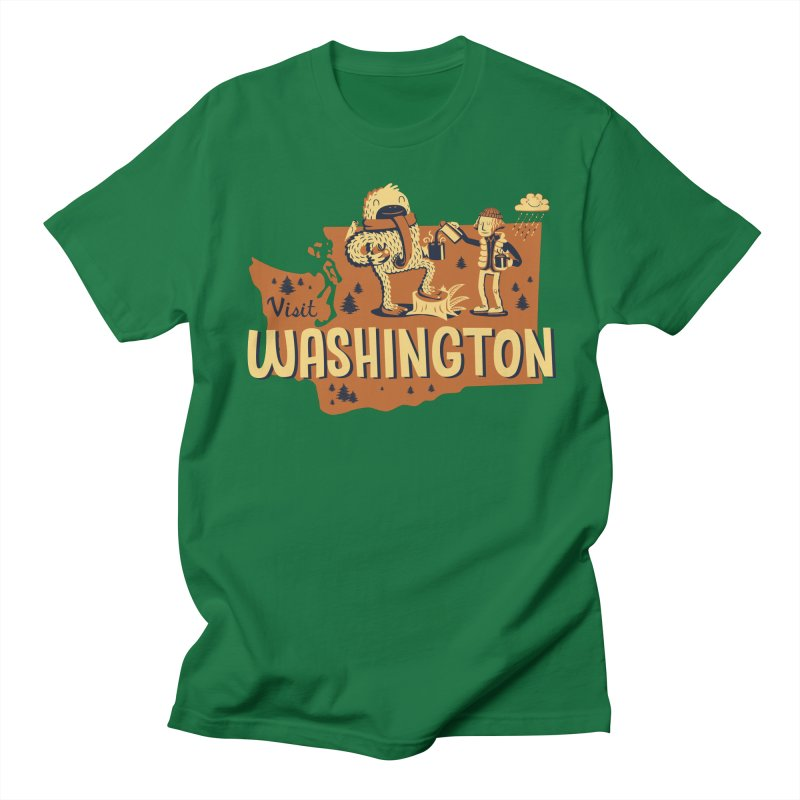 Visit Washington Men's T-shirt by Hazy Dell Press