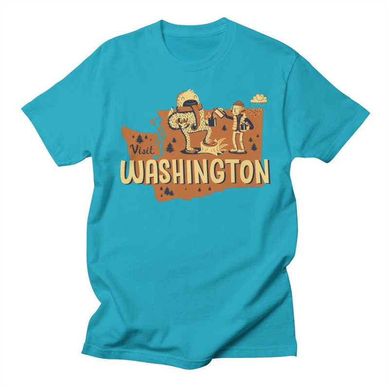 Visit Washington Women's Regular Unisex T-Shirt by Hazy Dell Press