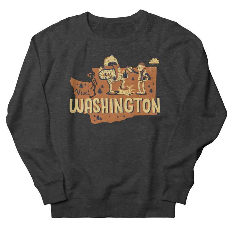 Visit Washington Men's Sweatshirt by Hazy Dell Press