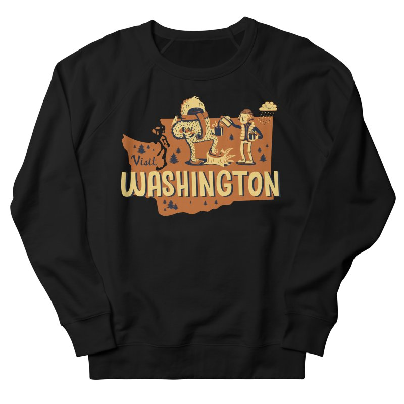 Visit Washington Men's French Terry Sweatshirt by Hazy Dell Press