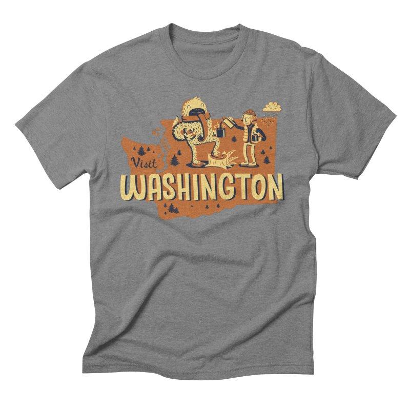 Visit Washington Men's Triblend T-Shirt by Hazy Dell Press