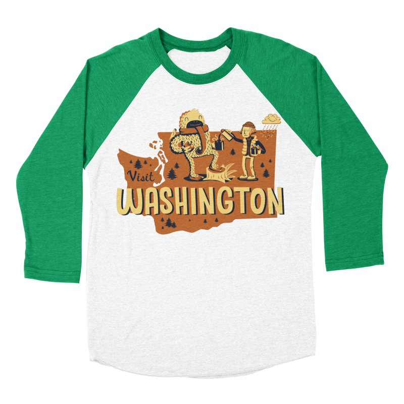 Visit Washington Women's Baseball Triblend T-Shirt by Hazy Dell Press