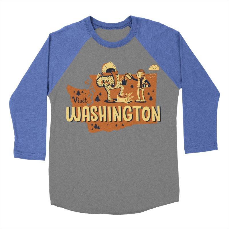Visit Washington Men's Baseball Triblend T-Shirt by Hazy Dell Press