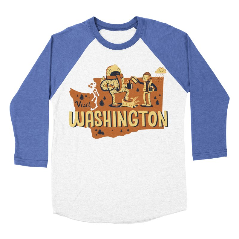 Visit Washington Men's Baseball Triblend T-Shirt by Hazy Dell Press