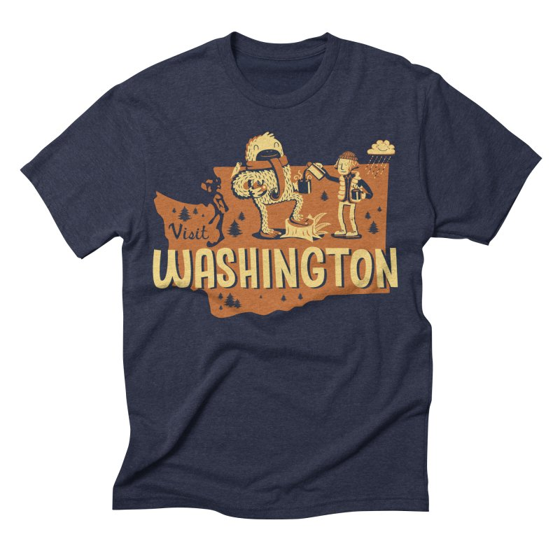 Visit Washington Men's Triblend T-shirt by Hazy Dell Press
