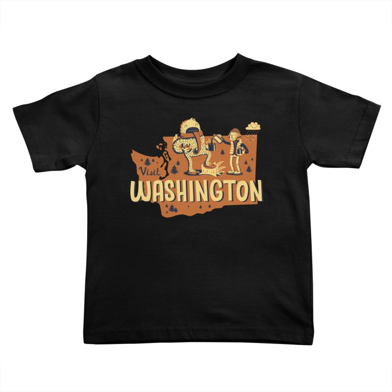 Visit Washington Kids Toddler T-Shirt by Hazy Dell Press