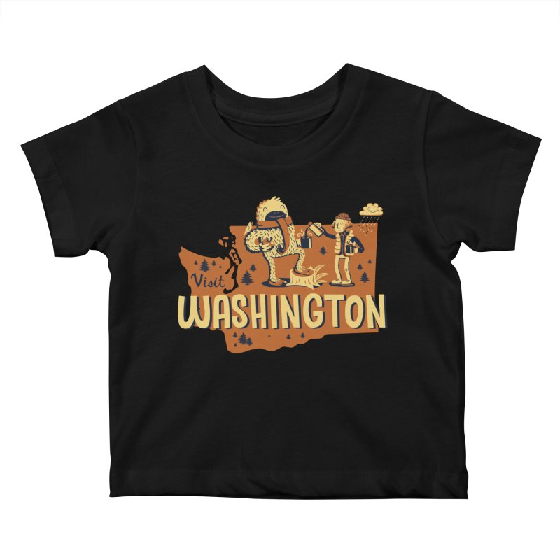 Visit Washington Kids Baby T-Shirt by Hazy Dell Press