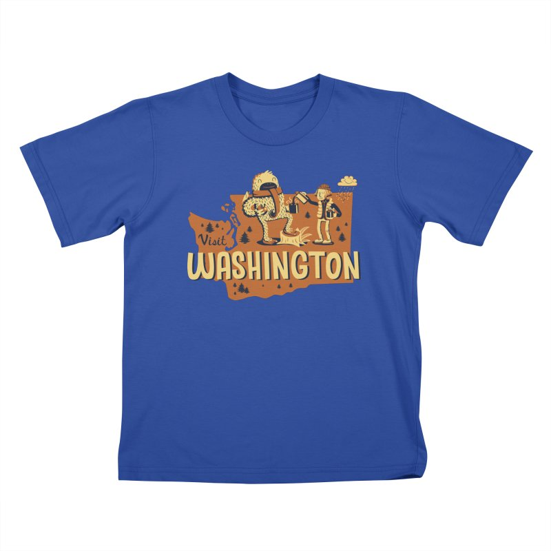 Visit Washington Kids T-Shirt by Hazy Dell Press
