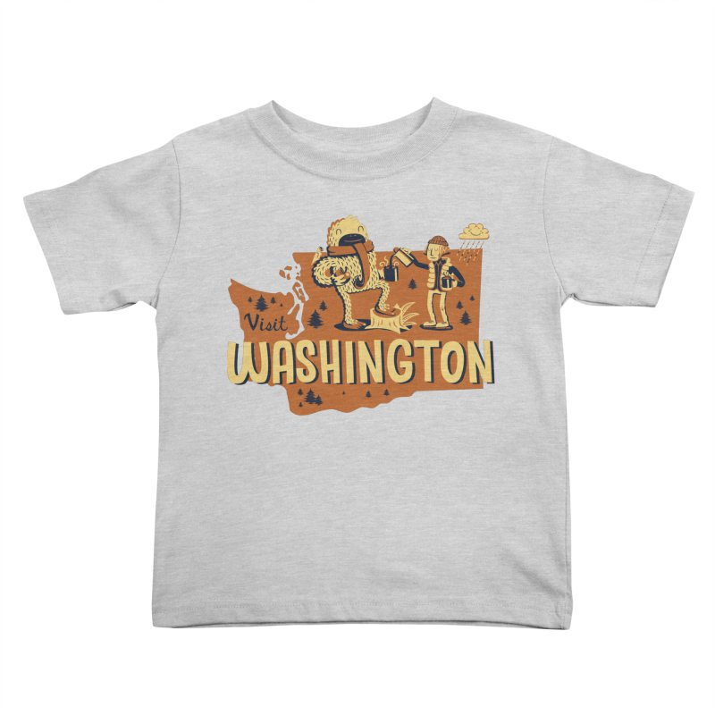 Visit Washington Kids Toddler T-Shirt by Hazy Dell Press