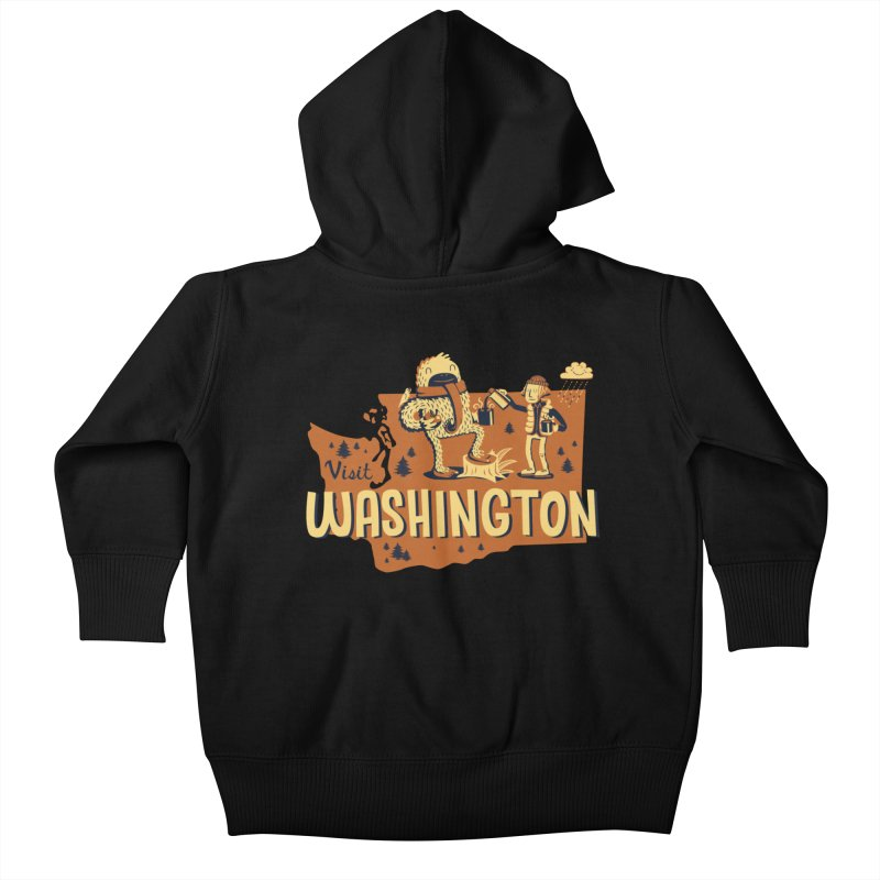 Visit Washington Kids Baby Zip-Up Hoody by Hazy Dell Press