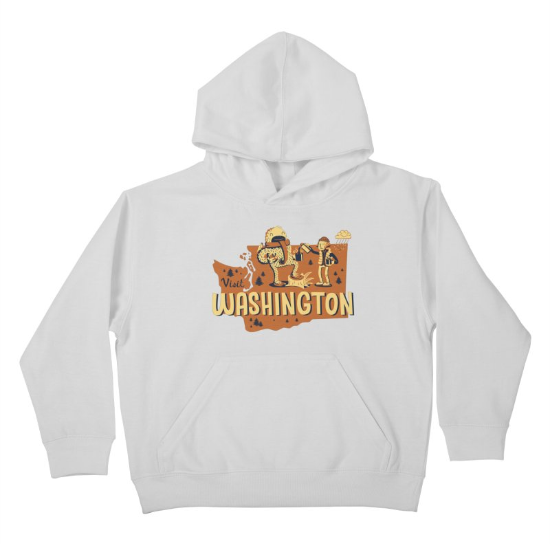 Visit Washington Kids Pullover Hoody by Hazy Dell Press