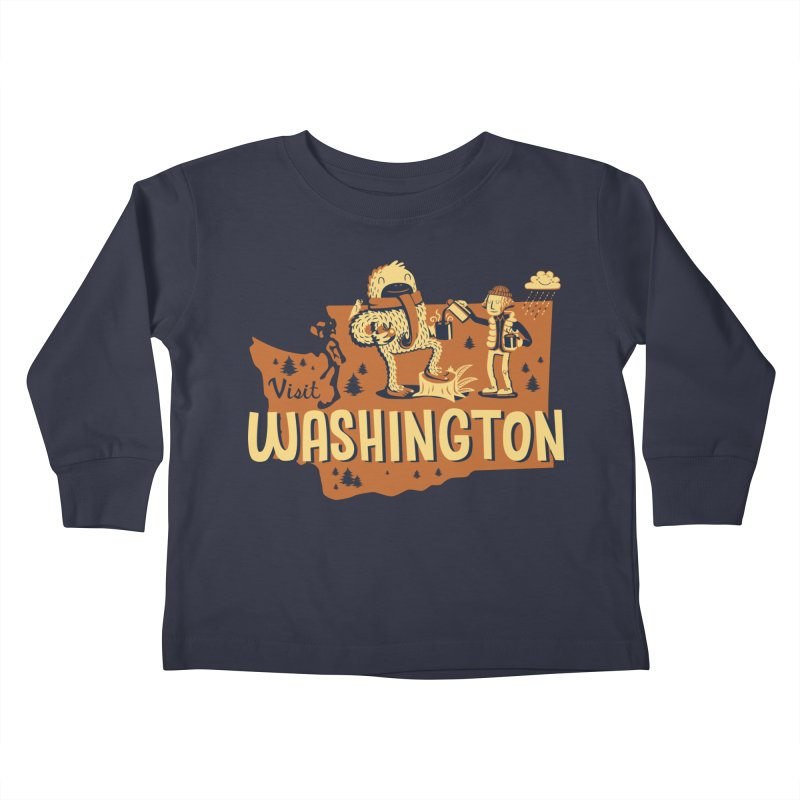 Visit Washington Kids Toddler Longsleeve T-Shirt by Hazy Dell Press