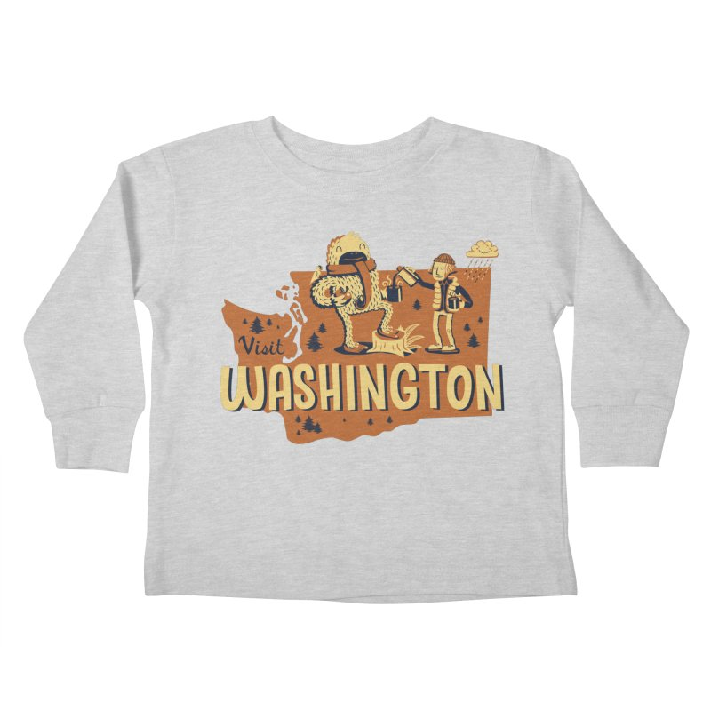 Visit Washington Kids Toddler Longsleeve T-Shirt by Hazy Dell Press
