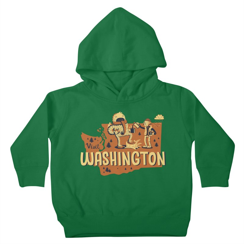 Visit Washington Kids Toddler Pullover Hoody by Hazy Dell Press