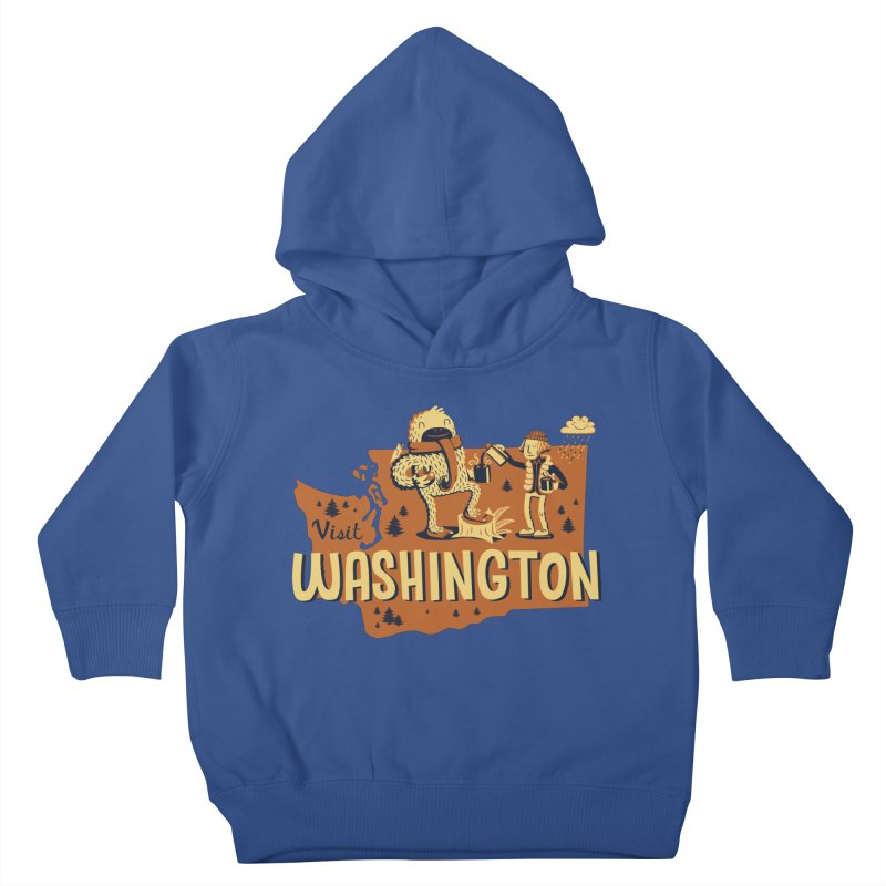 Visit Washington Kids Toddler Pullover Hoody by Hazy Dell Press