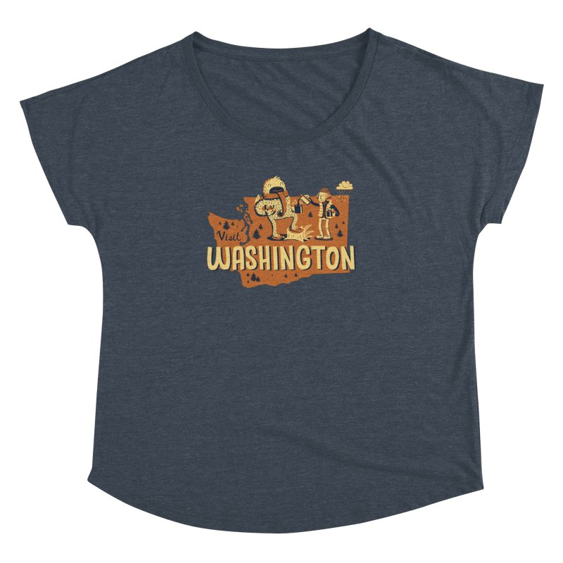 Visit Washington Women's Dolman by Hazy Dell Press