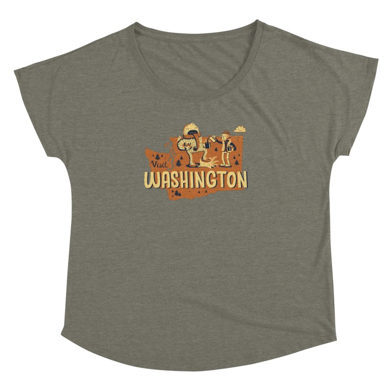 Visit Washington Women's Dolman by Hazy Dell Press