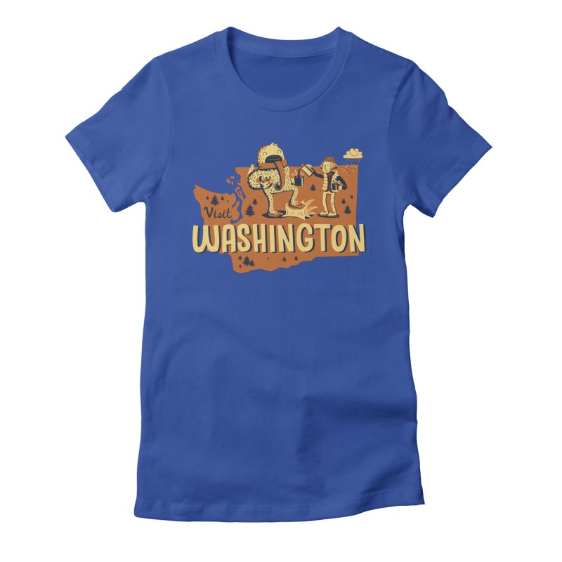 Visit Washington Women's Fitted T-Shirt by Hazy Dell Press