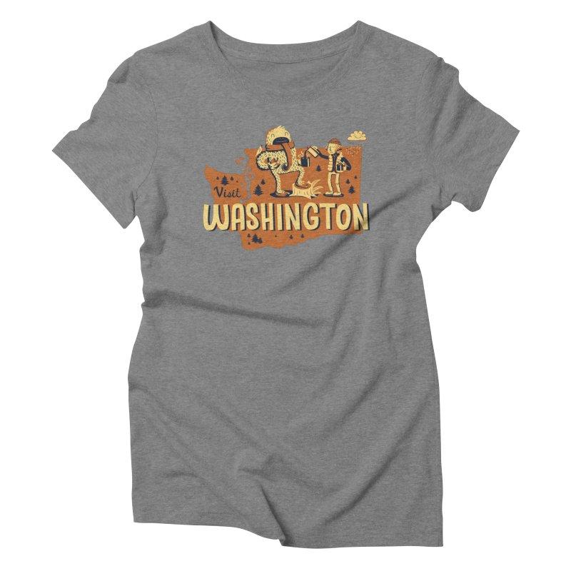 Visit Washington Women's Triblend T-shirt by Hazy Dell Press