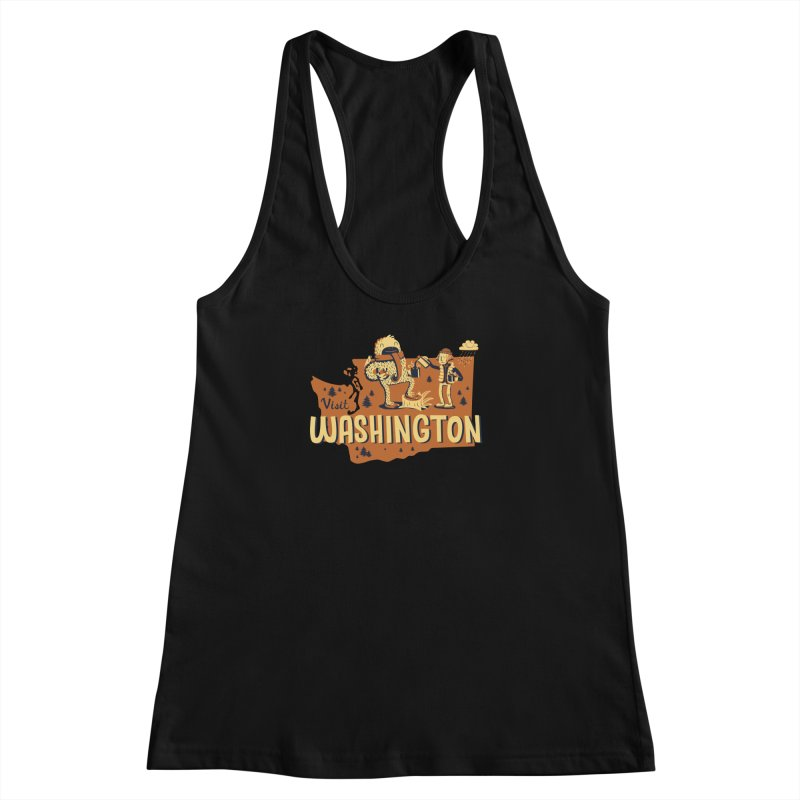 Visit Washington Women's Racerback Tank by Hazy Dell Press