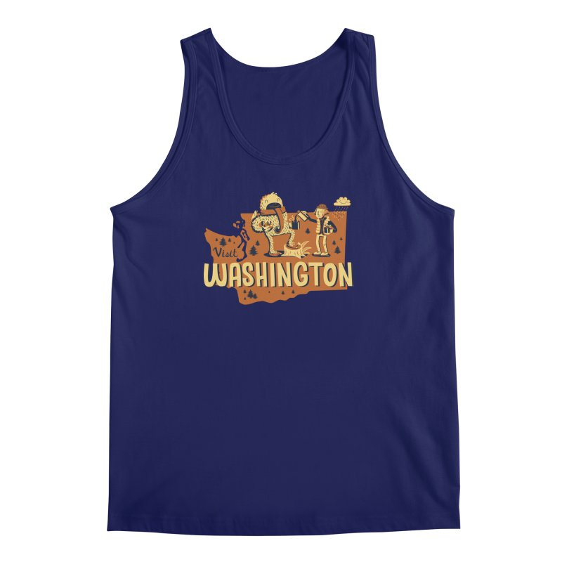 Visit Washington Men's Tank by Hazy Dell Press