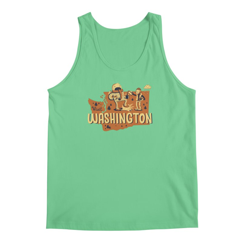 Visit Washington Men's Regular Tank by Hazy Dell Press