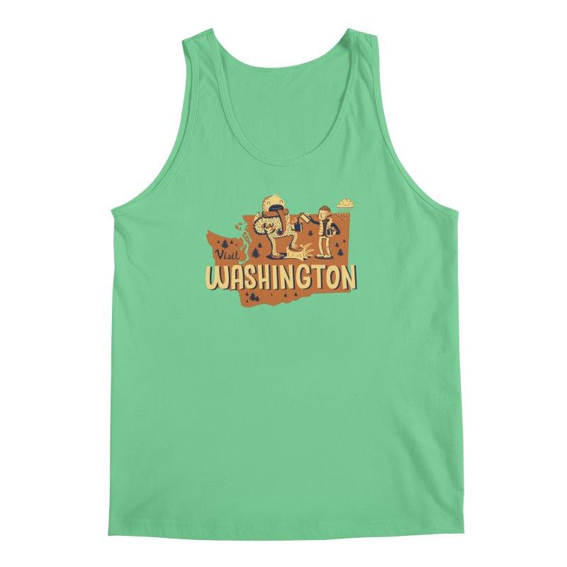 Visit Washington Men's Tank by Hazy Dell Press