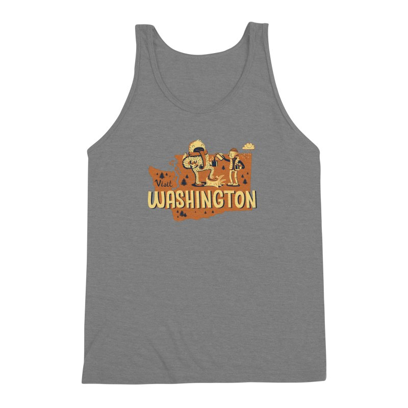Visit Washington Men's Triblend Tank by Hazy Dell Press