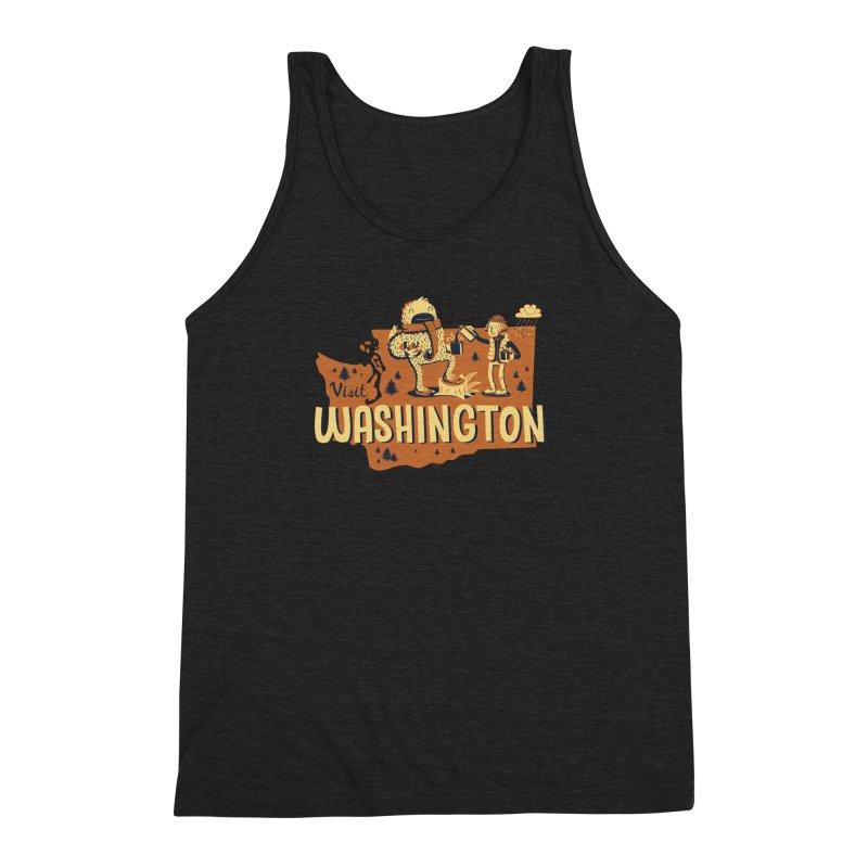 Visit Washington Men's Triblend Tank by Hazy Dell Press