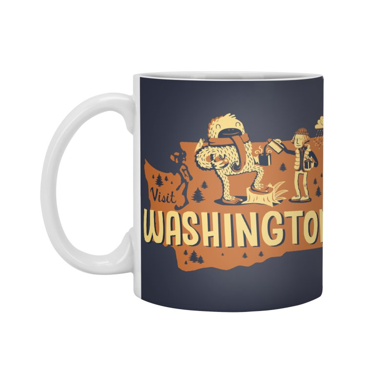 Visit Washington Accessories Standard Mug by Hazy Dell Press