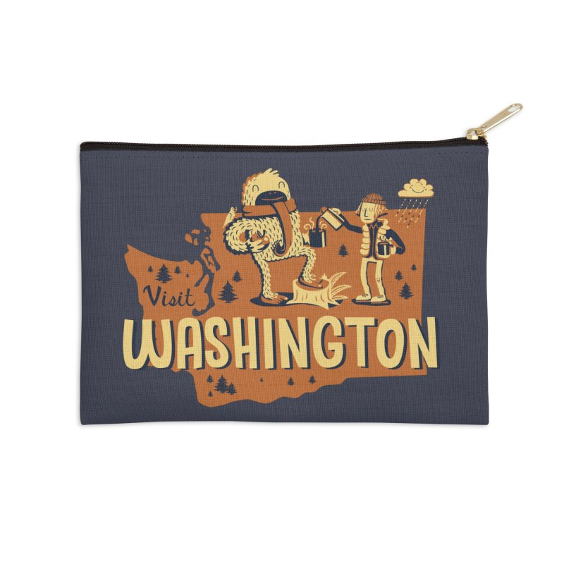Visit Washington Accessories Zip Pouch by Hazy Dell Press