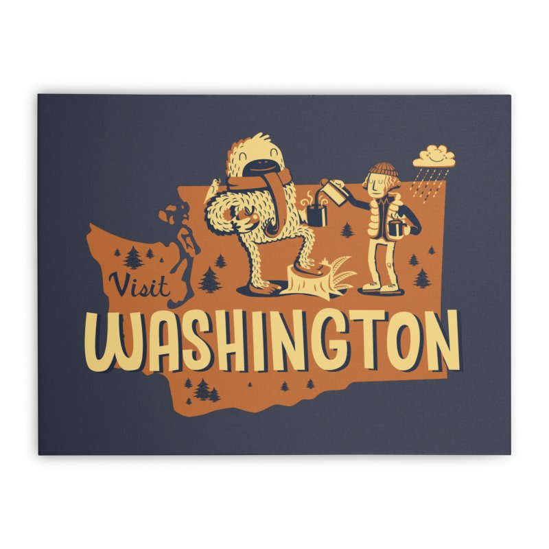 Visit Washington Home Stretched Canvas by Hazy Dell Press