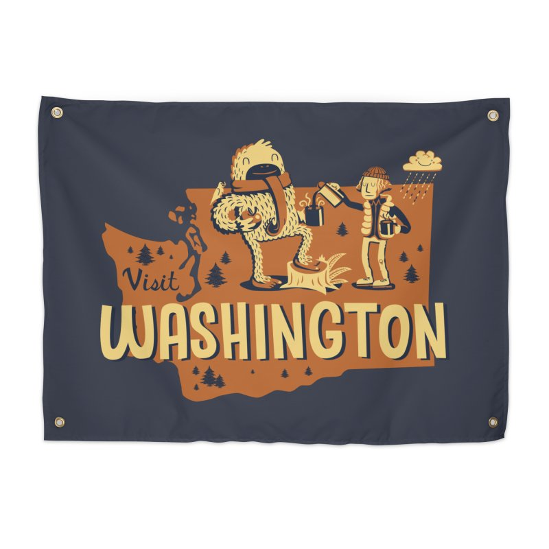 Visit Washington Home Tapestry by Hazy Dell Press