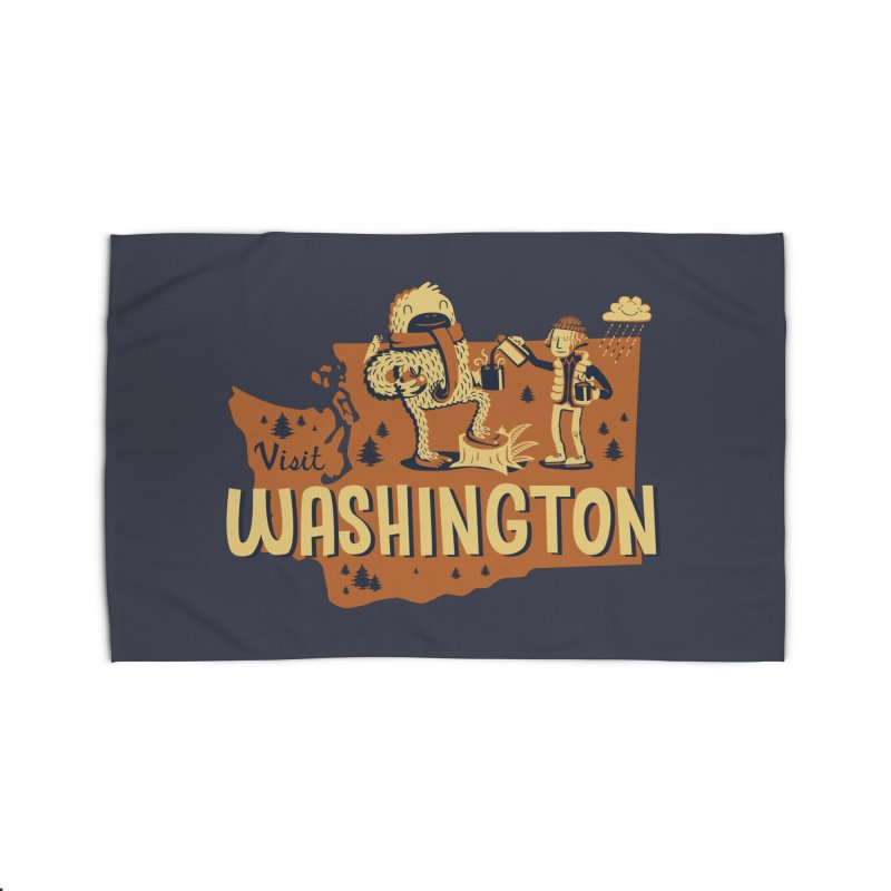Visit Washington Home Rug by Hazy Dell Press