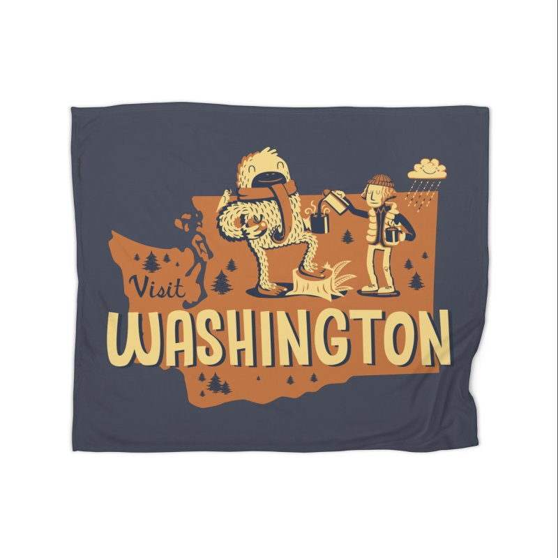 Visit Washington Home Blanket by Hazy Dell Press
