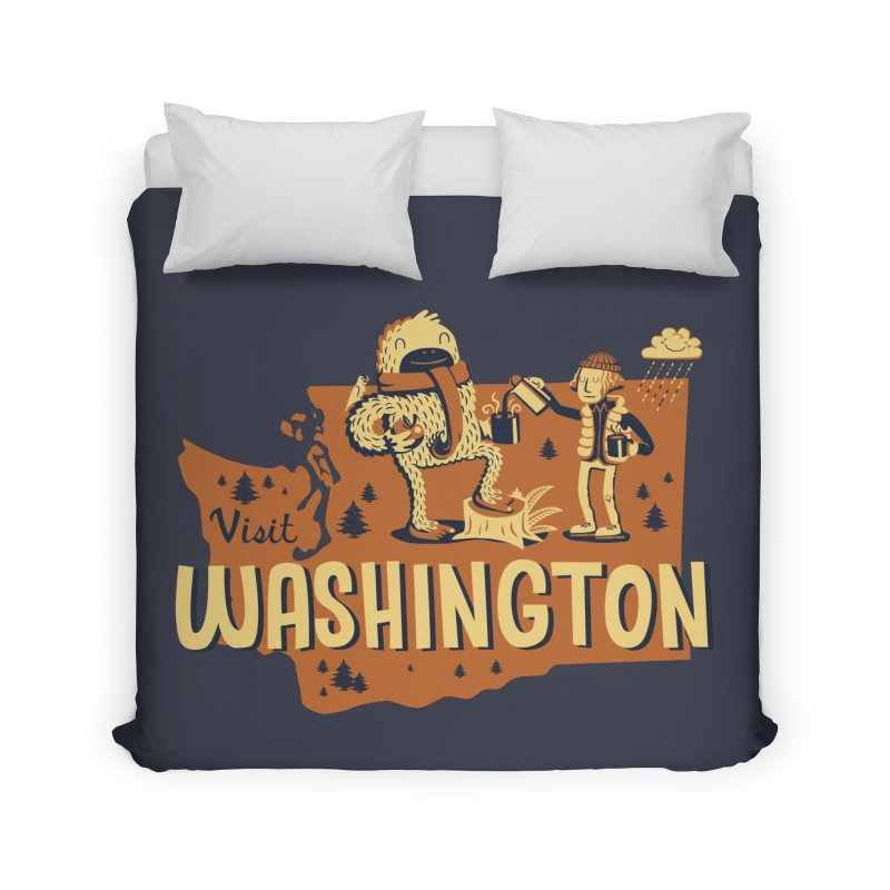 Visit Washington Home Duvet by Hazy Dell Press