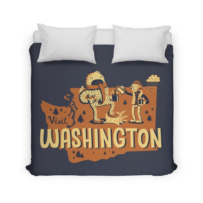 Visit Washington Home Duvet by Hazy Dell Press