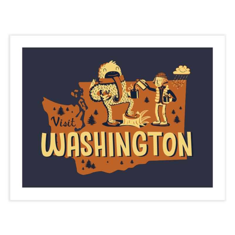 Visit Washington Home Fine Art Print by Hazy Dell Press