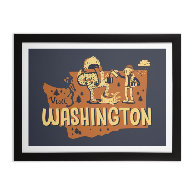 Visit Washington Home Framed Fine Art Print by Hazy Dell Press