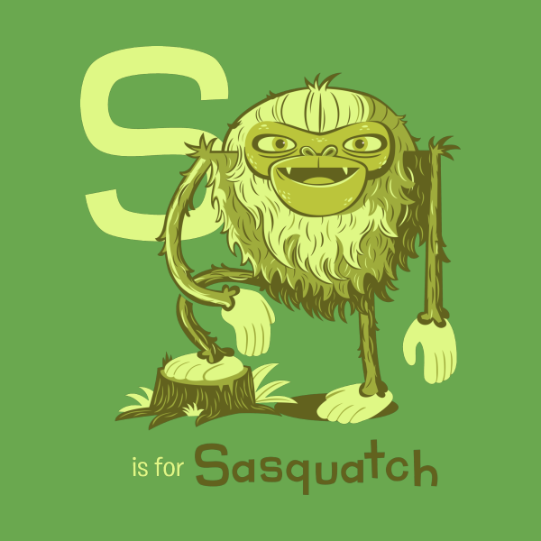 Design for S is for Sasquatch