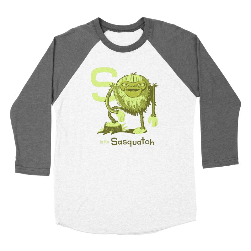 S is for Sasquatch Men's Baseball Triblend Longsleeve T-Shirt by Hazy Dell Press