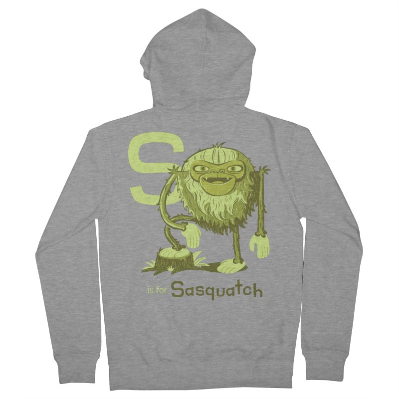 S is for Sasquatch Men's Zip-Up Hoody by Hazy Dell Press