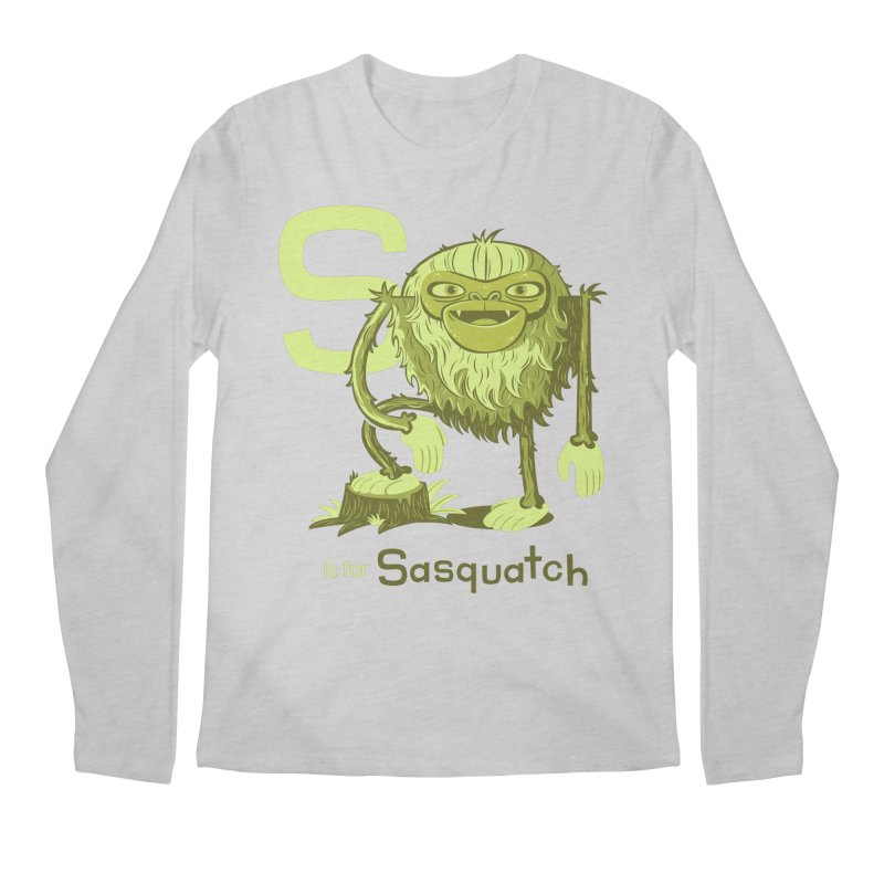 S is for Sasquatch Men's Regular Longsleeve T-Shirt by Hazy Dell Press