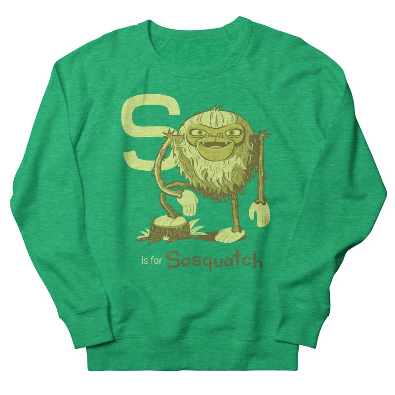 S is for Sasquatch Women's Sweatshirt by Hazy Dell Press